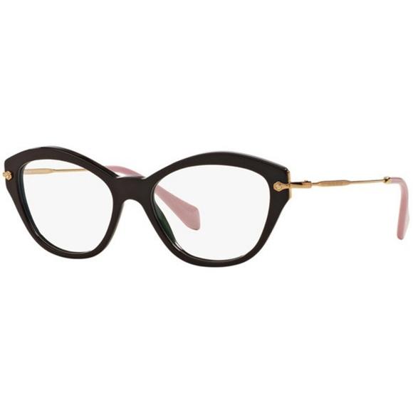 5ea01fd5da40 Miu Miu Cat Eye Eyeglasses Black Rose